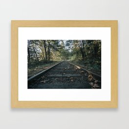 Shawnigan Tracks Framed Art Print