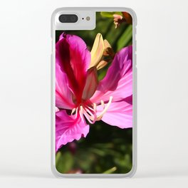 Hong Kong Orchid Clear iPhone Case