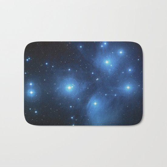 Taurus Constellation, Pleiades star cluster Bath Mat