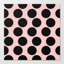 Millennial Pink Brown Dots Canvas Print