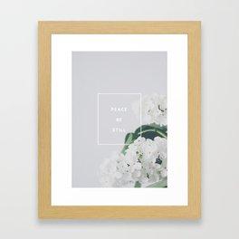 Peace, Be Still Framed Art Print