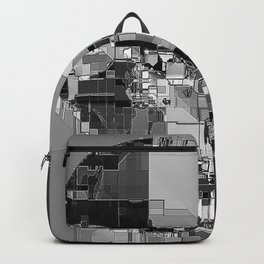 metallic skull on code Backpack