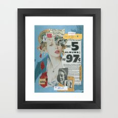 I Think She'll Be OK Framed Art Print
