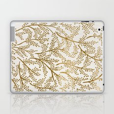 Gold Branches Laptop & iPad Skin