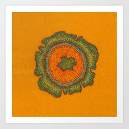 Growing -Taxus - embroidery based on plant cell under the microscope Art Print