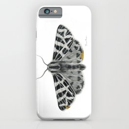 Kintsugi - A Graphite Drawing of a Moth by Brooke Figer iPhone Case