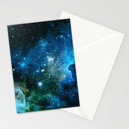Carina Nebula Blue Turquoise Teal Green Stationery Cards