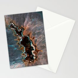 Earth treasures - Blue and orange agate Stationery Cards