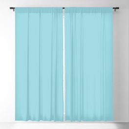 Solid Sky Blue Color Blackout Curtain