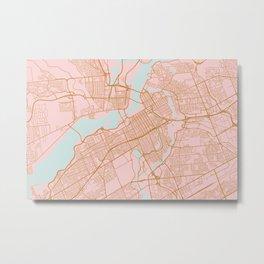 Pink and gold Ottawa map Metal Print