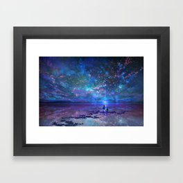 Ocean, Stars, Sky, and You Framed Art Print