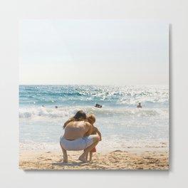 all day Father & Son California Beach Metal Print