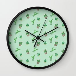 Cactus stamps 2 Wall Clock