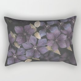 Faded Clematis in Purple Rectangular Pillow