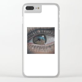 Colored Pencil Eye Clear iPhone Case