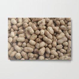 Peanuts - Nuts pattern Graphic Metal Print