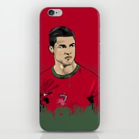ronaldo iPhone & iPod Skins featuring Cristiano Ronaldo by J Maldonado