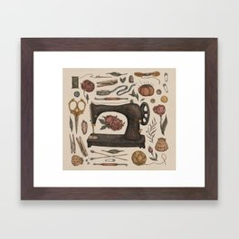 Sewing Collection Framed Art Print