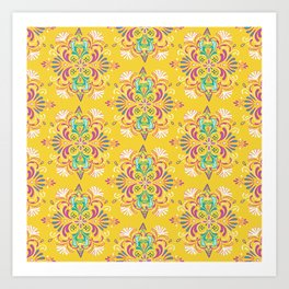 Indian Inspired Motifs Art Print