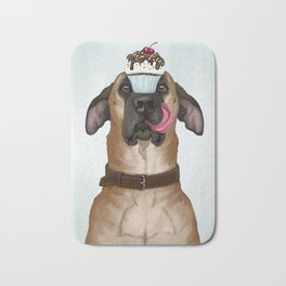 A Well-Trained Dog Bath Mat