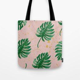 Speckled Palm Leaf Tote Bag