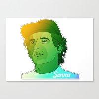 senna Canvas Prints featuring Ayrton Senna by Matty723