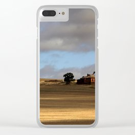 Rural Landscape and Farmhouse in Australia Clear iPhone Case