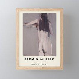 Poster-Fermin Aguayo-Nude Rose. Framed Mini Art Print