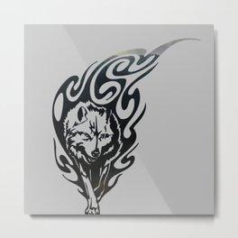 Diamond Eyes Wolf Metal Print