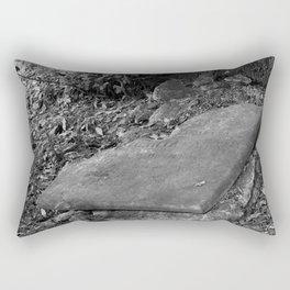 broken old grave on the green Rectangular Pillow