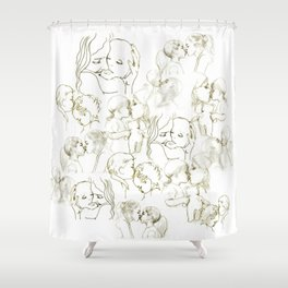 Forms Of Love Family Shower Curtain