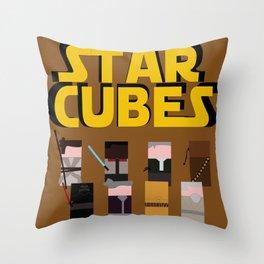 Star Cubes Throw Pillow