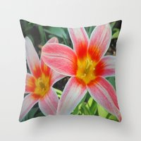tulips Throw Pillows featuring Tulips by Vitta