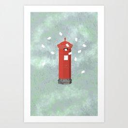 Red postbox Art Print