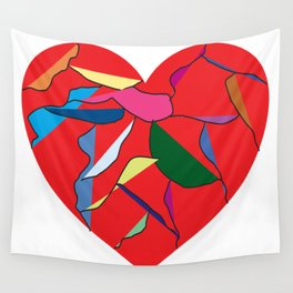 Well-Loved Heart Wall Tapestry