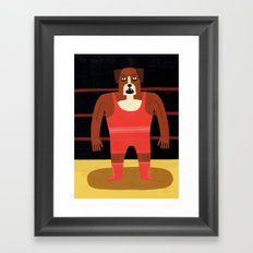 Dog Wrestler Framed Art Print