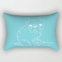 French Bulldog (mainichi) Rectangular Pillow