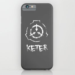 SCP foundation: Keter- White version iPhone Case