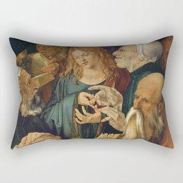 Christ among the Doctors by Albrecht Durer Rectangular Pillow