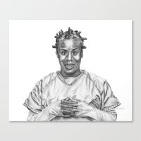 oitnb Canvas Prints featuring Crazy Eyes from OITNB by nilelivingston