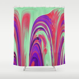 The Flaring Falls of Strine Canyons Shower Curtain