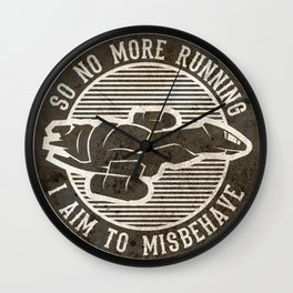 Misbehave Badge V2 Wall Clock