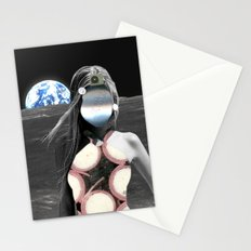 Fleisches Lust 12  - meat Moon Collage Stationery Cards