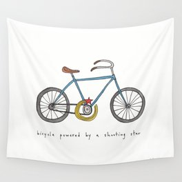 bicycle powered by a shooting star Wall Tapestry