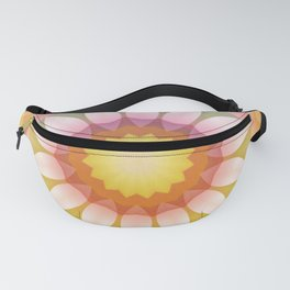 Sunny Fade into Pink Flower Kaleidoscope Fanny Pack
