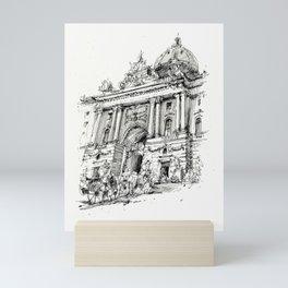 Wien, 2019, Ink drawing on paper Mini Art Print