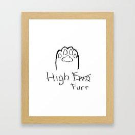 High Furr Framed Art Print