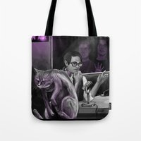 kevin russ Tote Bags featuring Kevin?! by Justyna Rerak