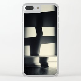 German Expressionism Experiment Abstract Shadows Clear iPhone Case