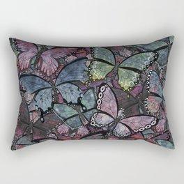 butterflies galore noir version Rectangular Pillow